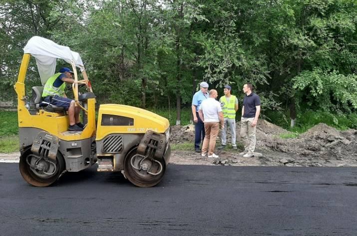 ремонт дороги в Сватово
